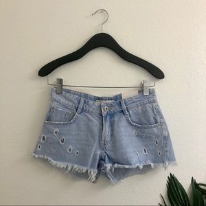 new! Zara distressed shorts!
